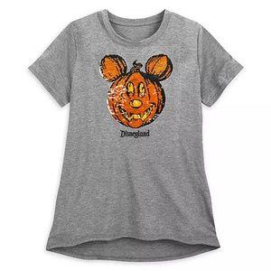 Disney Mickey Mouse Pumpkin Sequined T-shirt